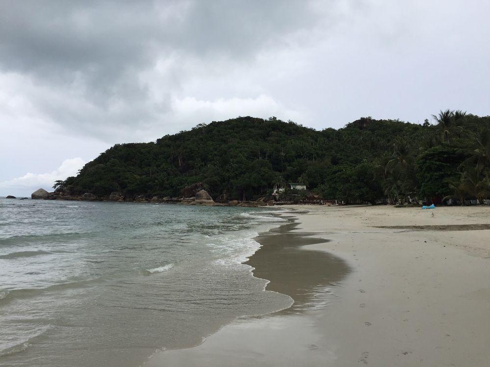 Strand im Regen